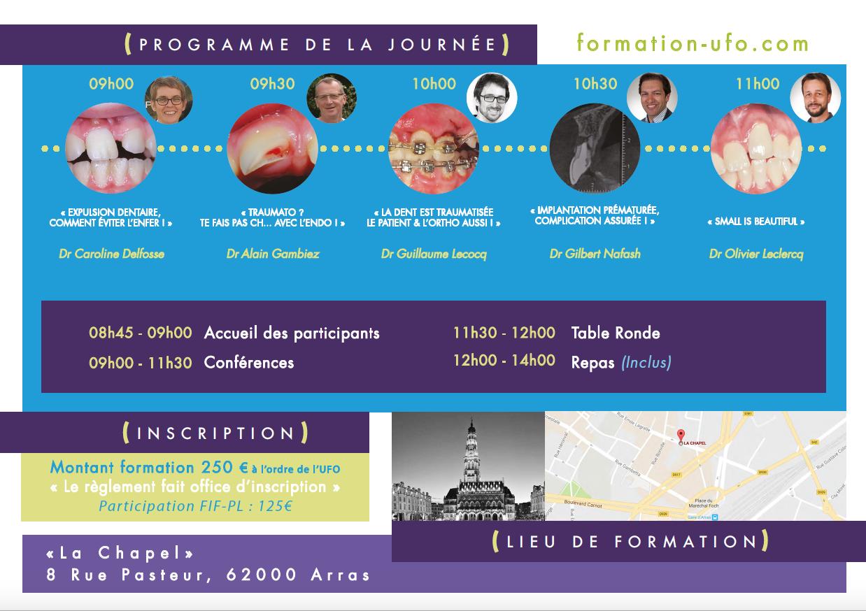 du traumatisme a la reconstruction - UFO union Formation Odontologique Arras 2
