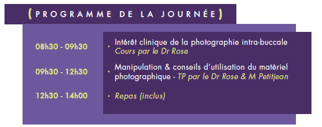 programme formation photo intrabucale