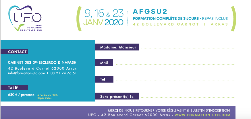 AFGSU 2 - UFO Union Formation Odontologie